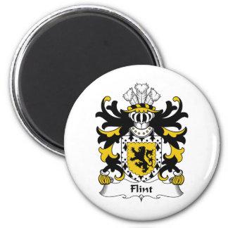Escudo de la familia del pedernal imanes para frigoríficos