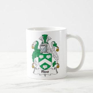 Escudo de la familia del pedernal taza