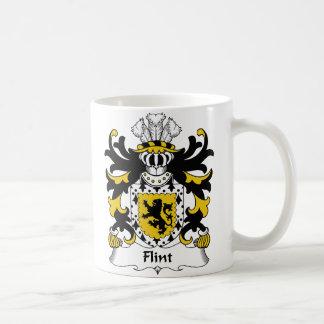 Escudo de la familia del pedernal taza clásica