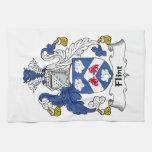 Escudo de la familia del pedernal toalla de cocina