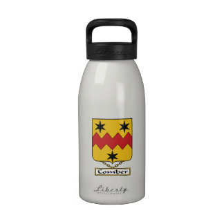 Escudo de la familia del peinador botella de agua