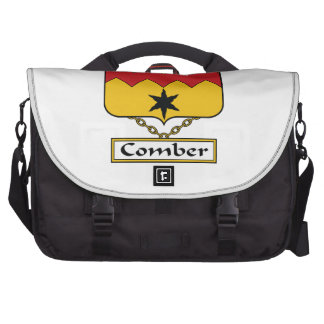 Escudo de la familia del peinador bolsas de ordenador