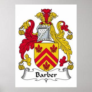 Escudo de la familia del peluquero impresiones