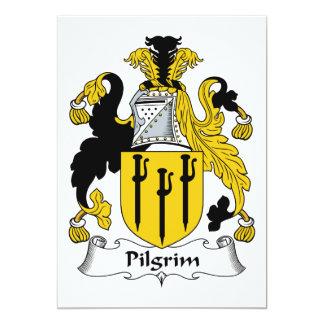 Escudo de la familia del peregrino invitacion personalizada