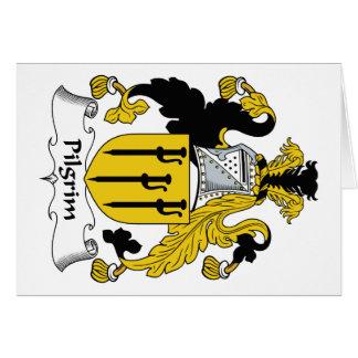 Escudo de la familia del peregrino tarjeton