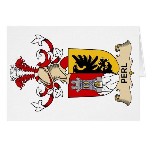 Escudo de la familia del Perl Tarjeton