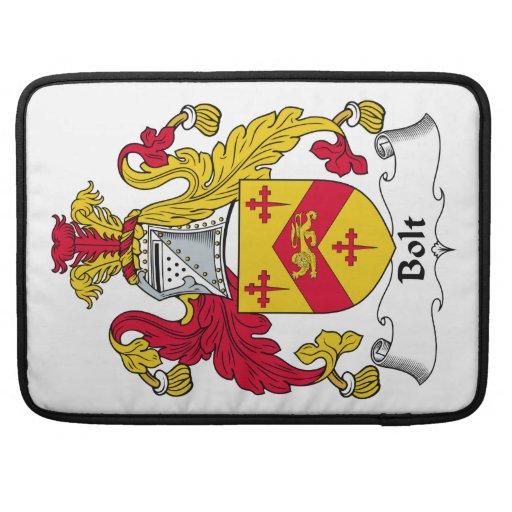 Escudo de la familia del perno fundas para macbooks