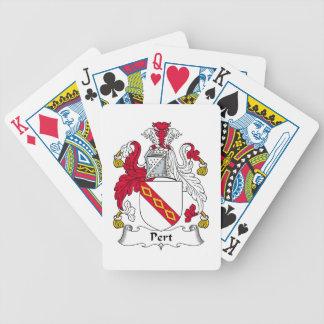 Escudo de la familia del Pert Baraja Cartas De Poker