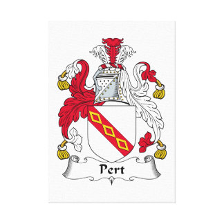 Escudo de la familia del Pert Impresión En Lona Estirada