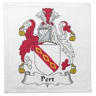 Escudo de la familia del Pert Servilleta Imprimida