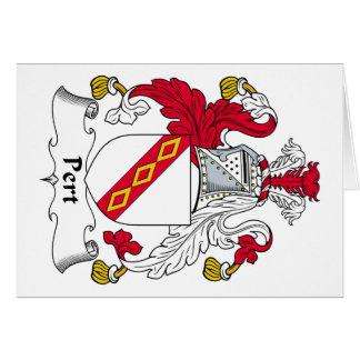 Escudo de la familia del Pert Tarjeta De Felicitación