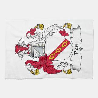 Escudo de la familia del Pert Toallas De Mano