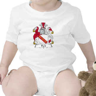 Escudo de la familia del Pert Trajes De Bebé
