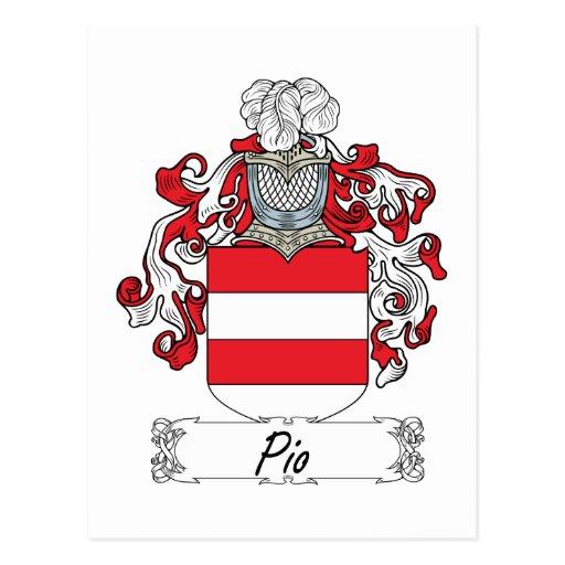 Escudo de la familia del Pio Tarjeta Postal