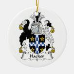 Escudo de la familia del pirata informático ornamento de reyes magos