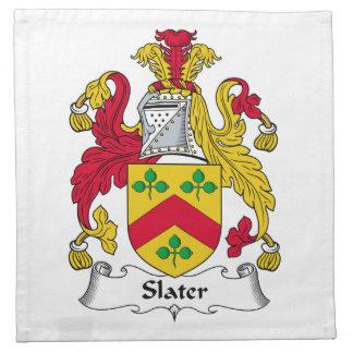 Escudo de la familia del pizarrero servilletas de papel