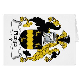 Escudo de la familia del Pledger Tarjeta De Felicitación