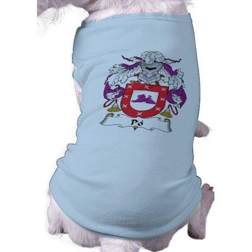Escudo de la familia del Po Camiseta De Mascota