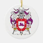Escudo de la familia del Po Ornamento Para Reyes Magos