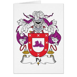 Escudo de la familia del Po Tarjeta De Felicitación