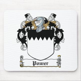 Escudo de la familia del poder alfombrillas de ratones