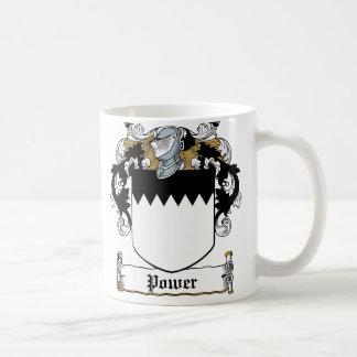 Escudo de la familia del poder taza de café
