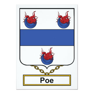 Escudo de la familia del Poe Invitación 11,4 X 15,8 Cm