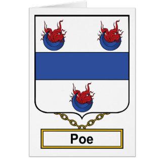 Escudo de la familia del Poe Tarjeta De Felicitación