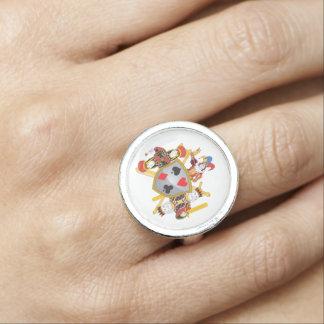 Escudo de la familia del póker anillo con foto