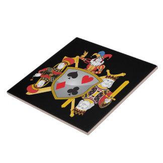 Escudo de la familia del póker teja