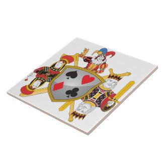 Escudo de la familia del póker teja cerámica