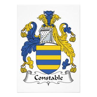 Escudo de la familia del policía invitaciones personales