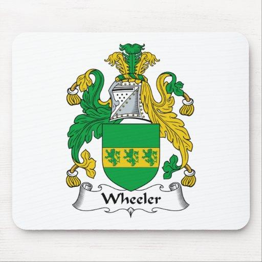 Escudo de la familia del policía motorizado mousepads