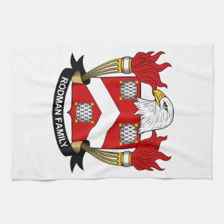 Escudo de la familia del portamira toalla de mano