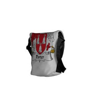 Escudo de la familia del portero bolsas de mensajeria