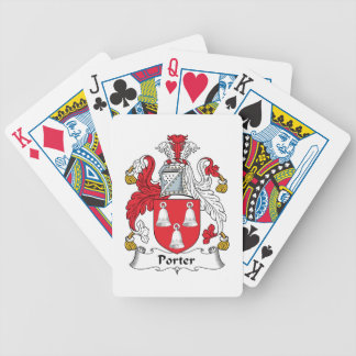 Escudo de la familia del portero baraja cartas de poker