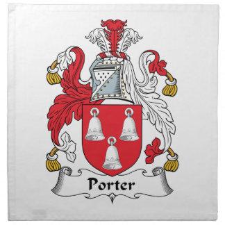 Escudo de la familia del portero servilletas