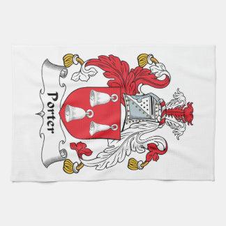 Escudo de la familia del portero toalla