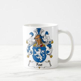Escudo de la familia del poste taza
