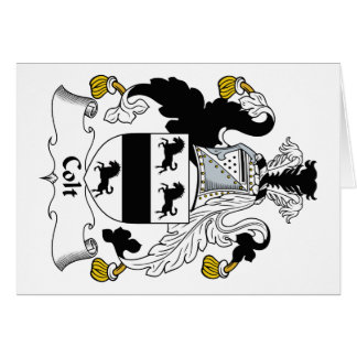 Escudo de la familia del potro tarjeta de felicitación