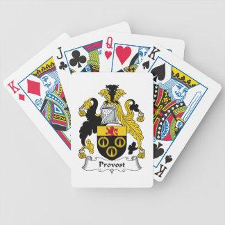 Escudo de la familia del preboste baraja de cartas