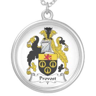 Escudo de la familia del preboste pendiente personalizado