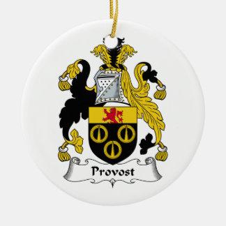 Escudo de la familia del preboste ornaments para arbol de navidad