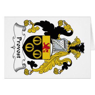 Escudo de la familia del preboste felicitaciones