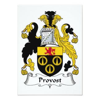 Escudo de la familia del preboste invitaciones personales