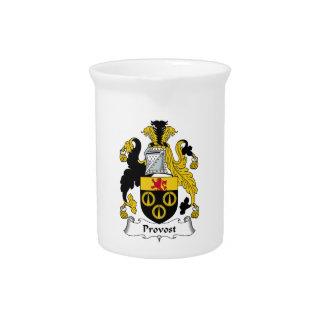 Escudo de la familia del preboste jarras de beber