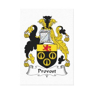Escudo de la familia del preboste impresión en lienzo estirada