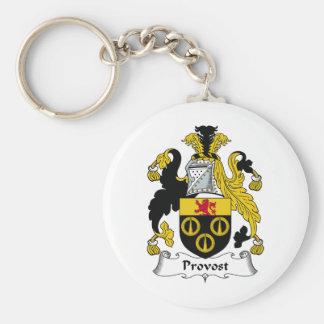 Escudo de la familia del preboste llavero personalizado