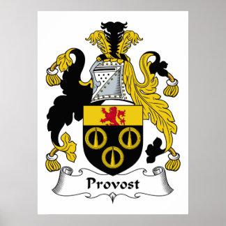 Escudo de la familia del preboste posters