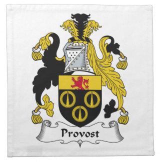Escudo de la familia del preboste servilleta